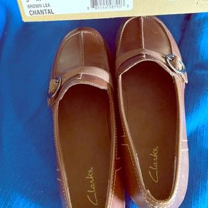 Clark's New Brown leather shoes